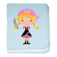 Pirate Girl w/ Sword baby blanket