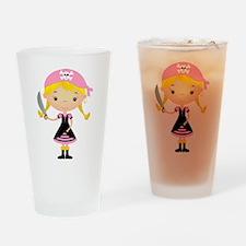 Pirate Girl w/ Sword Drinking Glass