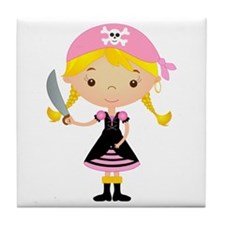 Pirate Girl w/ Sword Tile Coaster