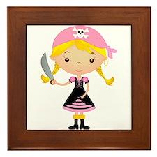 Pirate Girl w/ Sword Framed Tile
