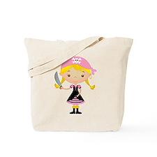 Pirate Girl w/ Sword Tote Bag