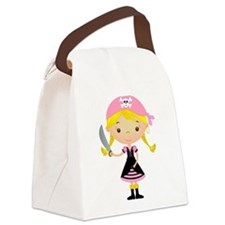 Pirate Girl w/ Sword Canvas Lunch Bag