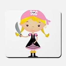 Pirate Girl w/ Sword Mousepad