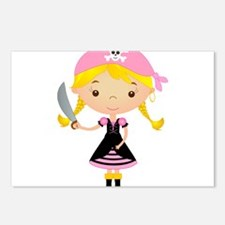 Pirate Girl w/ Sword Postcards (Package of 8)