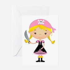 Pirate Girl w/ Sword Greeting Card