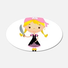 Pirate Girl w/ Sword Wall Decal