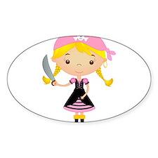 Pirate Girl w/ Sword Decal
