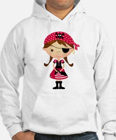 Pirate Girl in Red Hoodie
