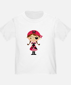Pirate Girl in Red T