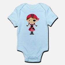 Pirate Girl in Red Infant Bodysuit