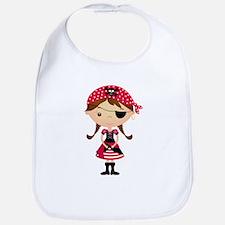 Pirate Girl in Red Bib