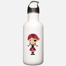 Pirate Girl in Red Water Bottle