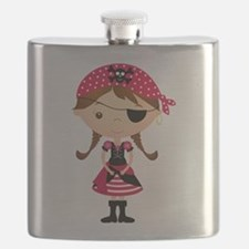 Pirate Girl in Red Flask