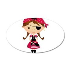 Pirate Girl in Red Wall Decal