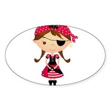 Pirate Girl in Red Decal