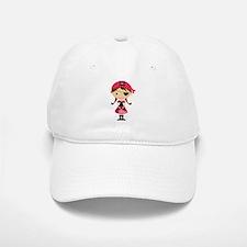 Pirate Girl in Red Baseball Baseball Cap