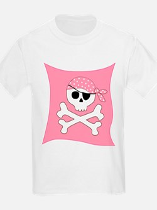 Pink Skull & Crossbones Pirate Flag T-Shirt
