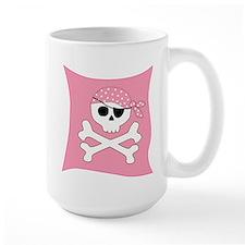 Pink Skull & Crossbones Pirate Flag Mug