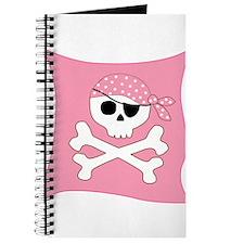 Pink Skull & Crossbones Pirate Flag Journal