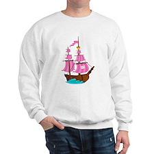 Pink Pirate Ship Sweatshirt