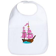 Pink Pirate Ship Bib