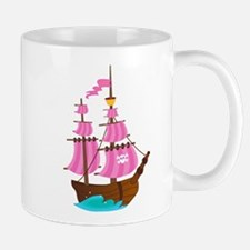 Pink Pirate Ship Mug