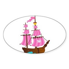 Pink Pirate Ship Decal