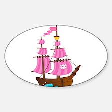 Pink Pirate Ship Decal