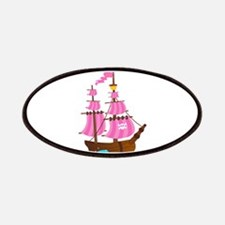 Pink Pirate Ship Patches