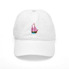 Pink Pirate Ship Baseball Cap
