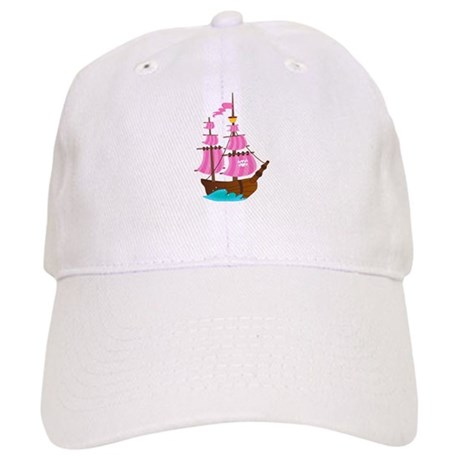Pink Pirate Ship Cap