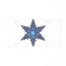 Snow Flake Aluminum License Plate