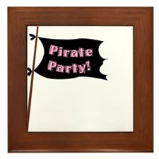 Pirate Party Flag Framed Tile