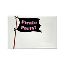 Pirate Party Flag Rectangle Magnet