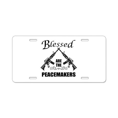 Blessed Are The Peacemakers AR's Aluminum License