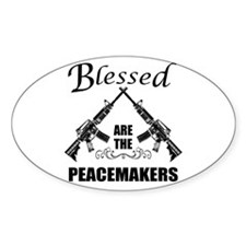 Blessed Are The Peacemakers AR's Decal