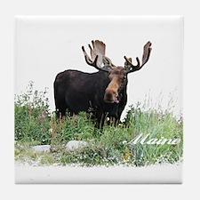 Maine Moose Tile Coaster