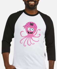 Pink Pirate Octopus Baseball Jersey
