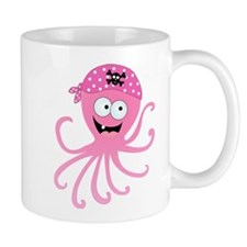 Pink Pirate Octopus Mug