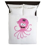 Pink octopus Duvet Covers