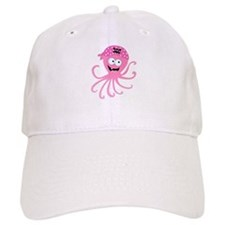 Pink Pirate Octopus Baseball Cap