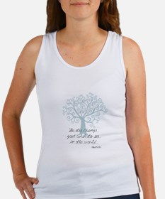 Be the Change Tree Tank Top