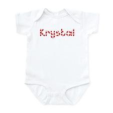 Krystal - Candy Cane Infant Bodysuit