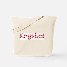 Krystal - Candy Cane Tote Bag