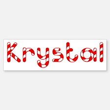 Krystal - Candy Cane Bumper Bumper Bumper Sticker