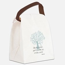 Be the Change Tree Canvas Lunch Bag