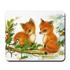 Baby Foxes Mousepad