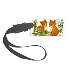Baby Foxes Luggage Tag