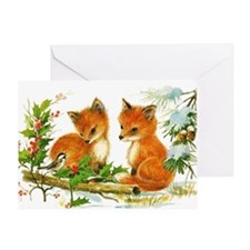 Baby Foxes Greeting Card