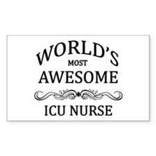 World's Most Awesome ICU Nurse Decal